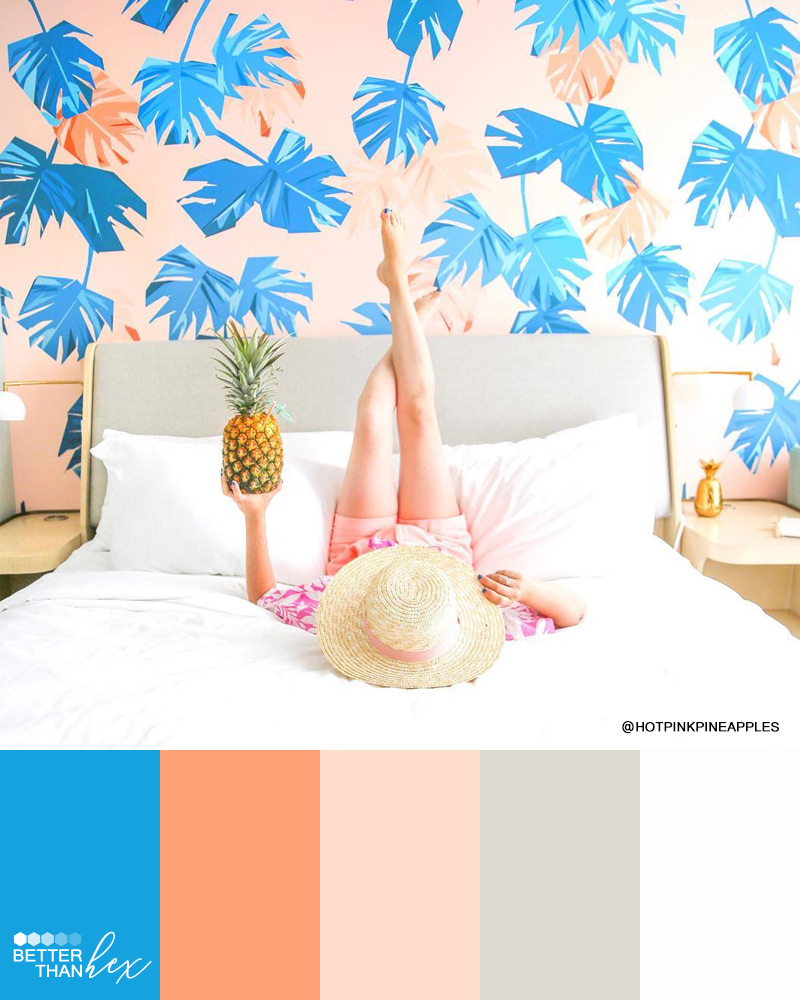 Peach and Blue Color Palette