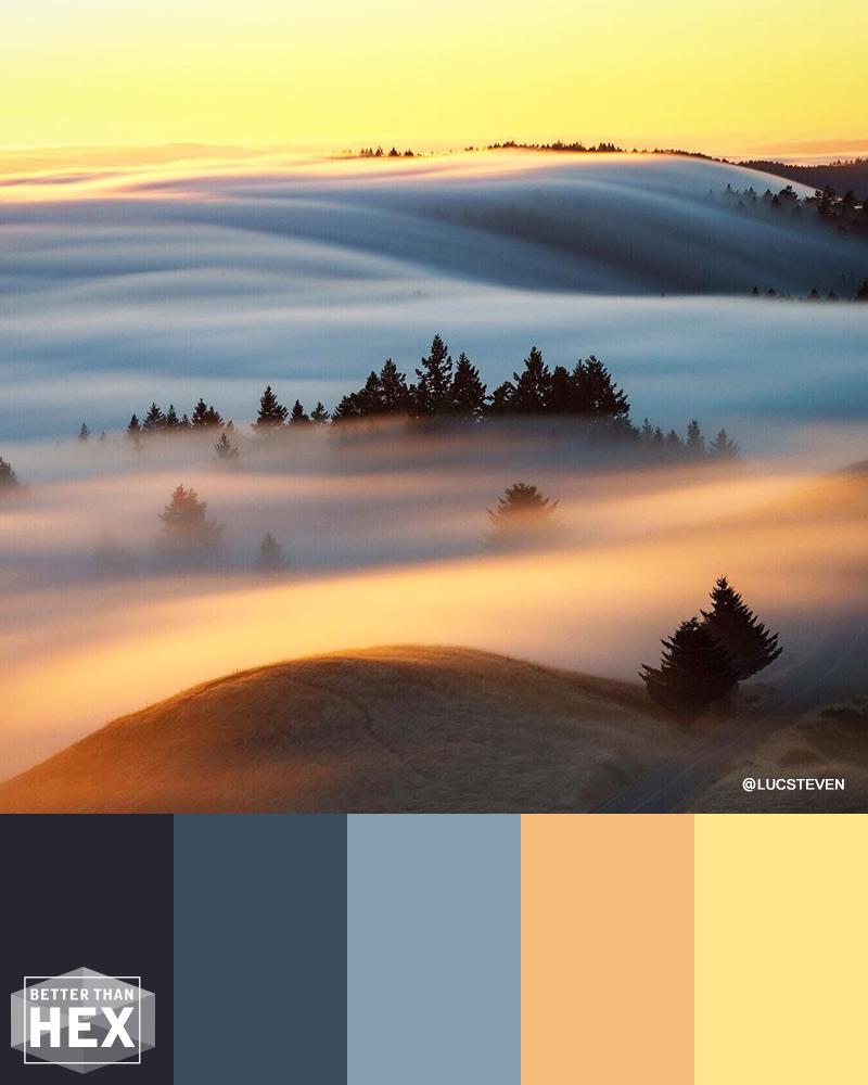 Misty Blue Color Palette