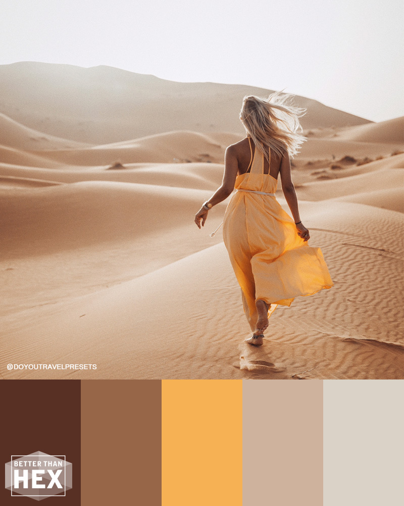 Yellow Desert Color Palette